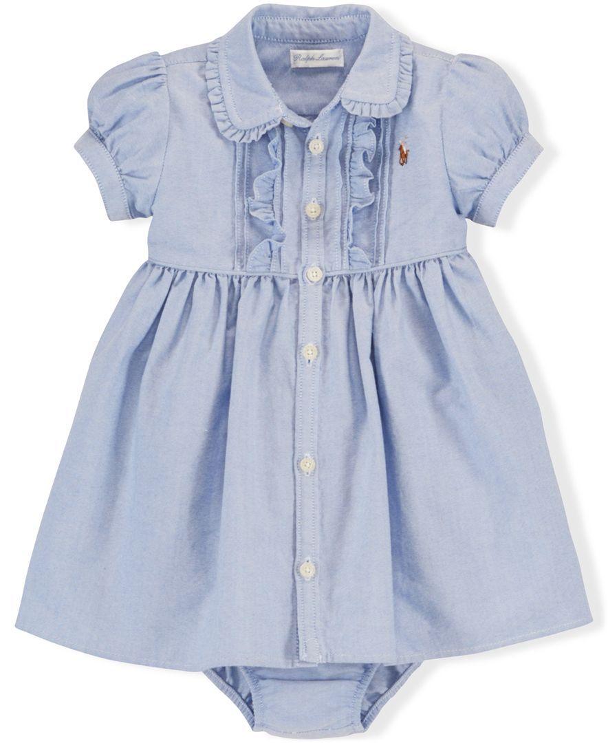 4e40c06d9 Ralph Lauren Baby Girls  Oxford Shirtdress