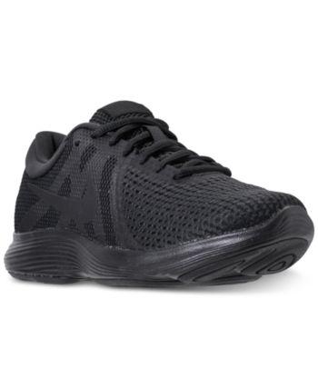 aae8b0044d581 Nike Men s Revolution 4 Wide Width (4E) Running Sneakers from Finish Line -  Black 10.5W