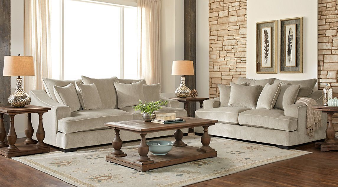 Cobble Heights Dove Gray 5 Pc Living