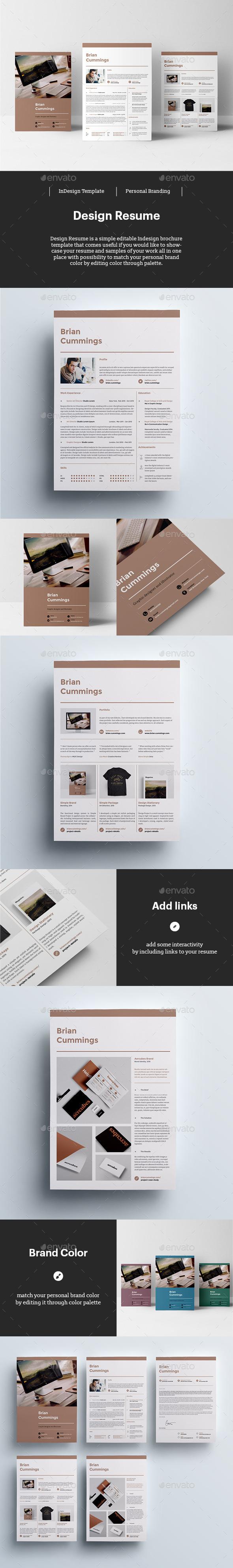Design Resume Template InDesign INDD #design Download: http ...