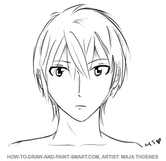 how to draw a mouth from the front