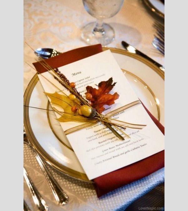 Inspiração para um casamento no outono. #casamento #inspiração #outono #menu