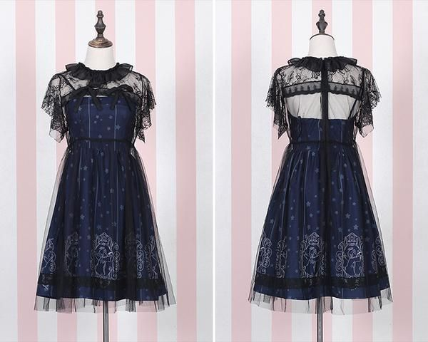 996e2ec9fee9 Cute harajuku lolita stars printing two-piece dresses AD0250 in 2019 ...