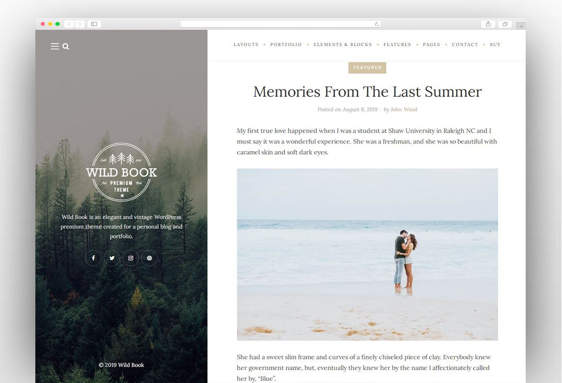 Wild Book - Vintage & Elegant WordPress Blog Theme   Blog themes wordpress, Wild book, Blog themes