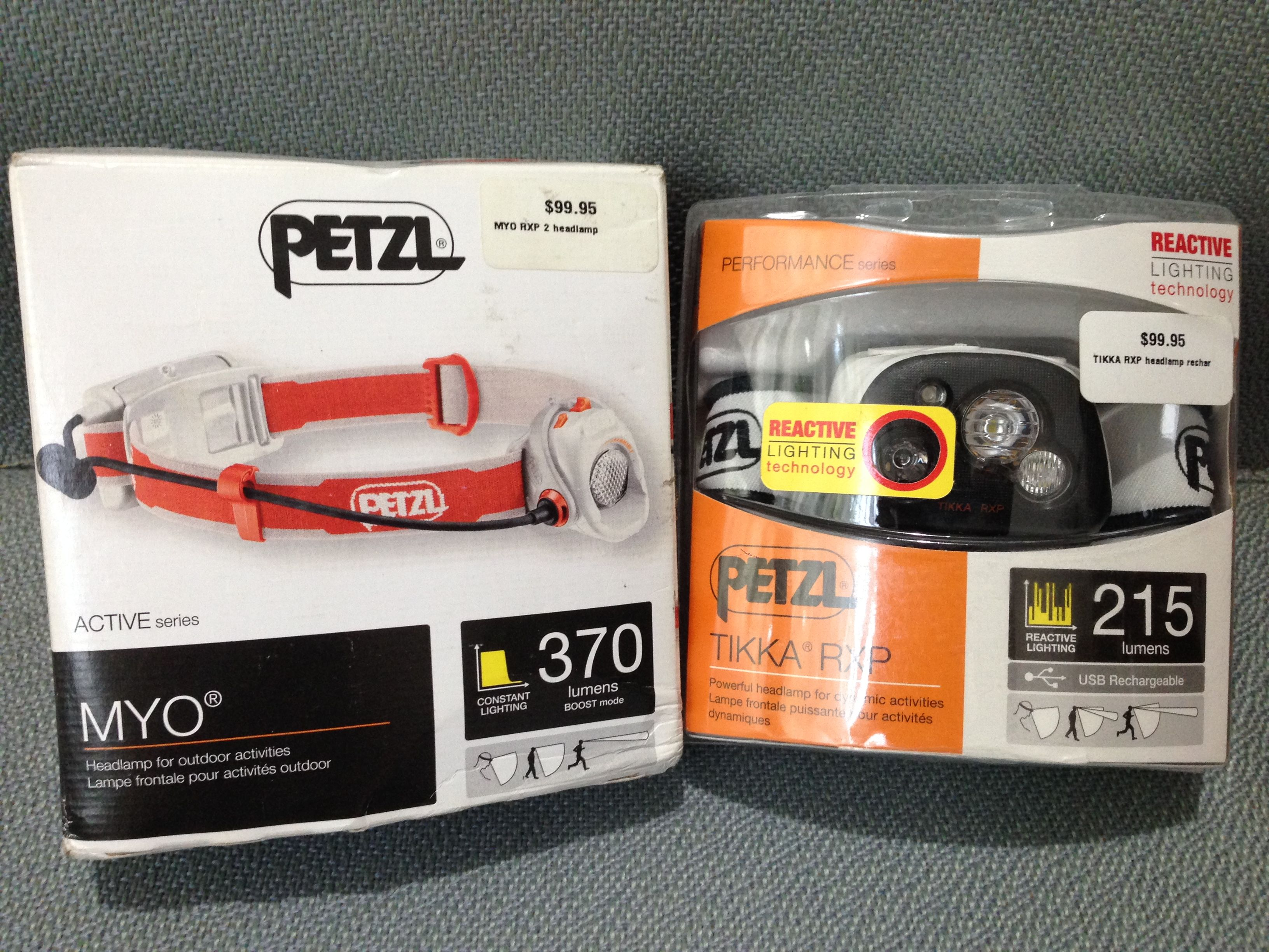Petzl Tikka Rxp 215 Lumens And Myo Rxp 370 Lumens Headlamps Each