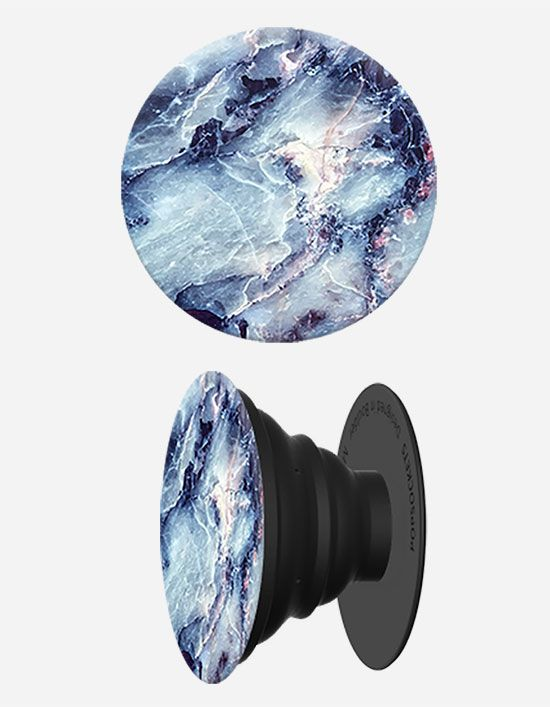 Popsockets Blue Marble Phone Stand And Grip I Phone Blu