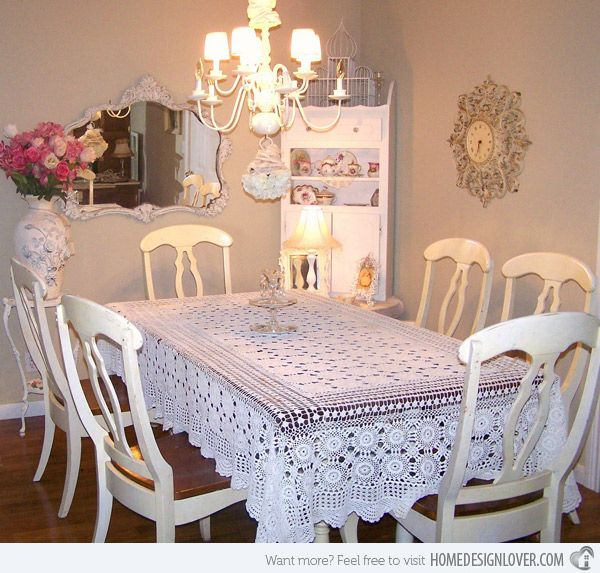 15 Pretty and Charming Shabby Chic Dining Rooms | Shabby chic ...