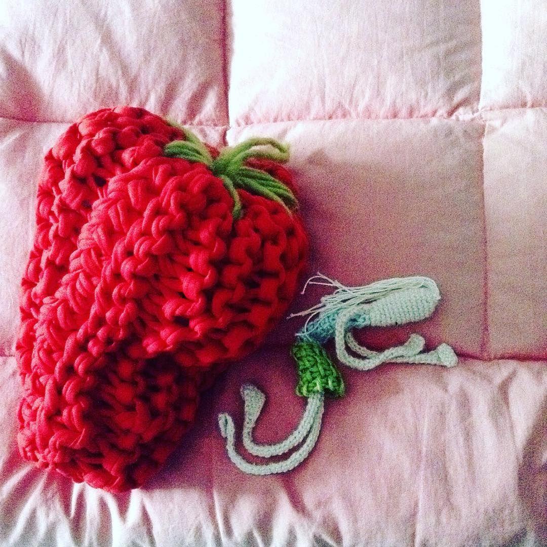 She loves hers ... #sleepanywheredoll #woolandthegang #strawberrypie 🍓