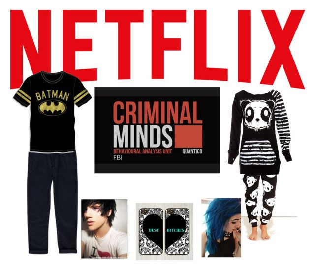"""""""Netflix 'n' Chill, bro?"""" by rainbowkookie13 ❤ liked on Polyvore featuring George, Bioworld, Wet Seal, Poizen Industries and Samsung"""