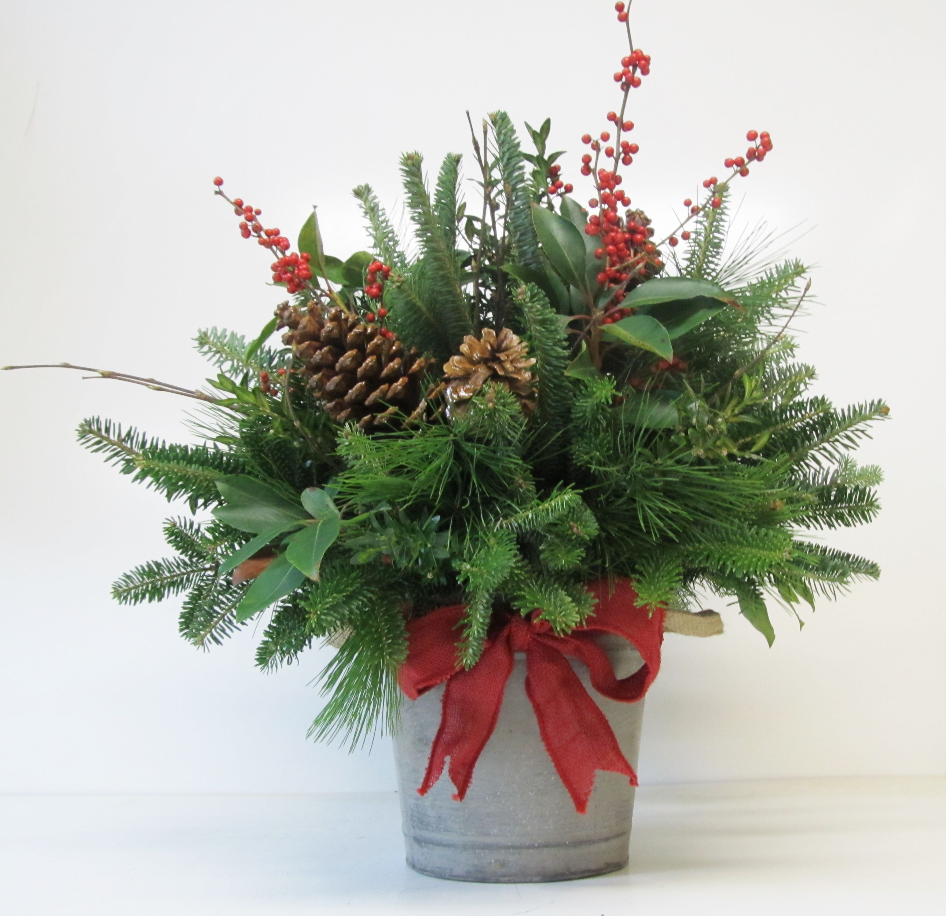 Christmas Arrangements Assorted Greenery Arrangements: small christmas centerpieces
