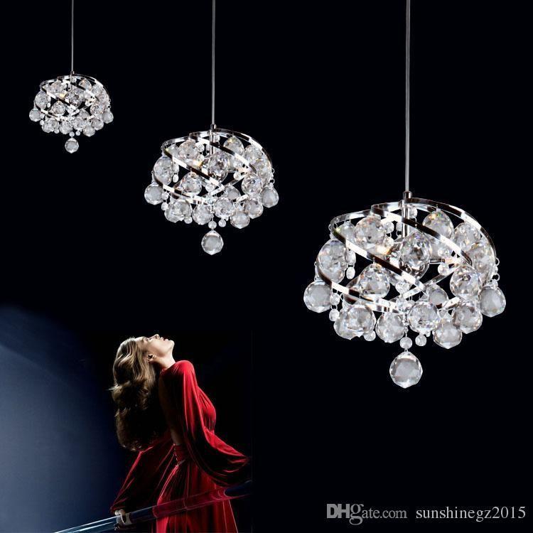 Moderne Restaurant Crystal Einzel Kopf Lampen Schlafzimmer