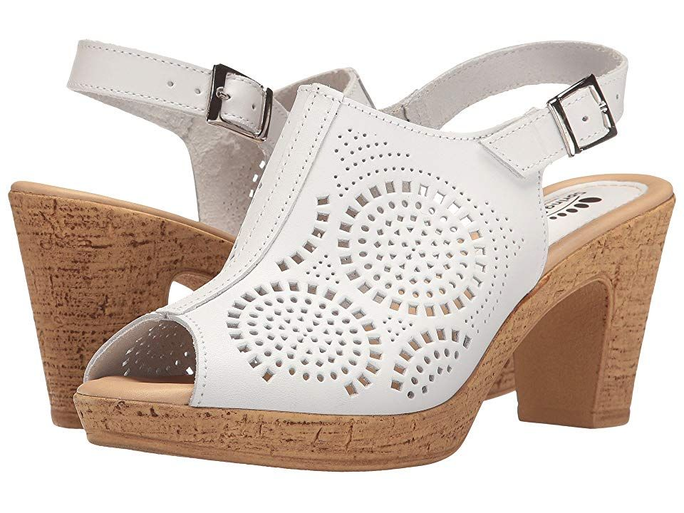 0d8af95c3001 Spring Step Liberty (White) Women s Shoes. Stand tall and beautiful in the Liberty  wedge by Spring Step. Leather upper with geometric laser-cut details for ...