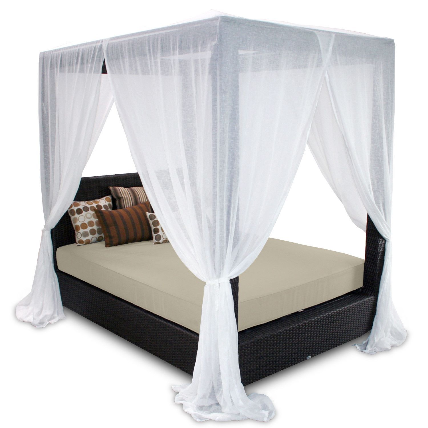 - Signature Queen Canopy Bed With Cushions Queen Canopy Bed, Patio