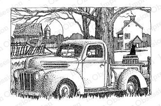 Old truck on farm | Coloring pages, Coloring book pages ...