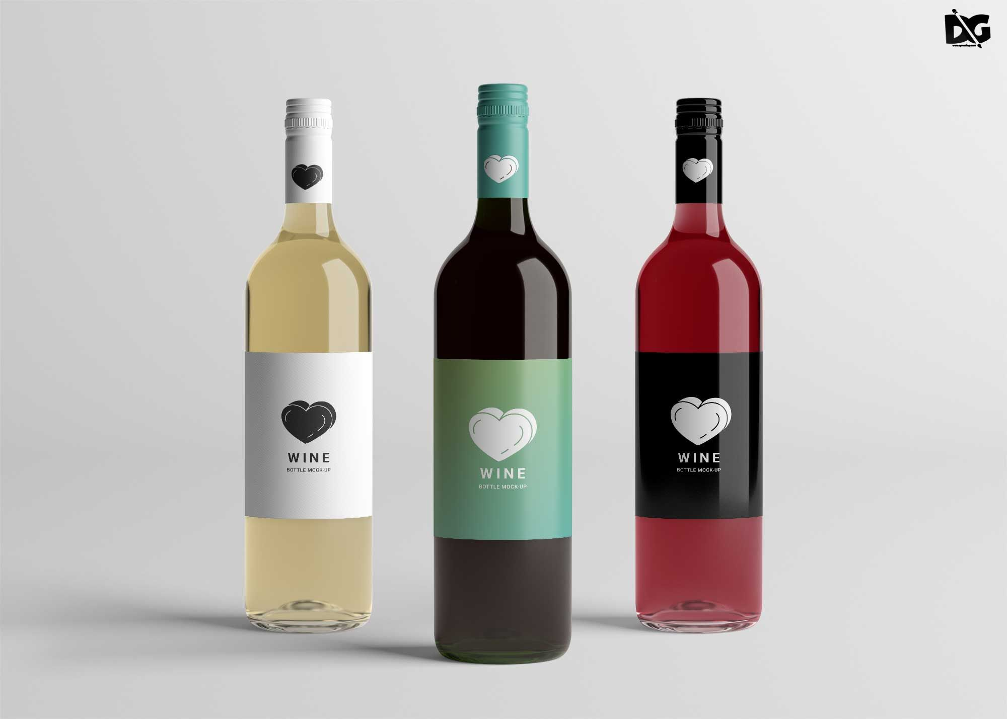 Free Wine Bottle Mockup Wine Bottle Label Design Bottle Label Design Design Mockup Free