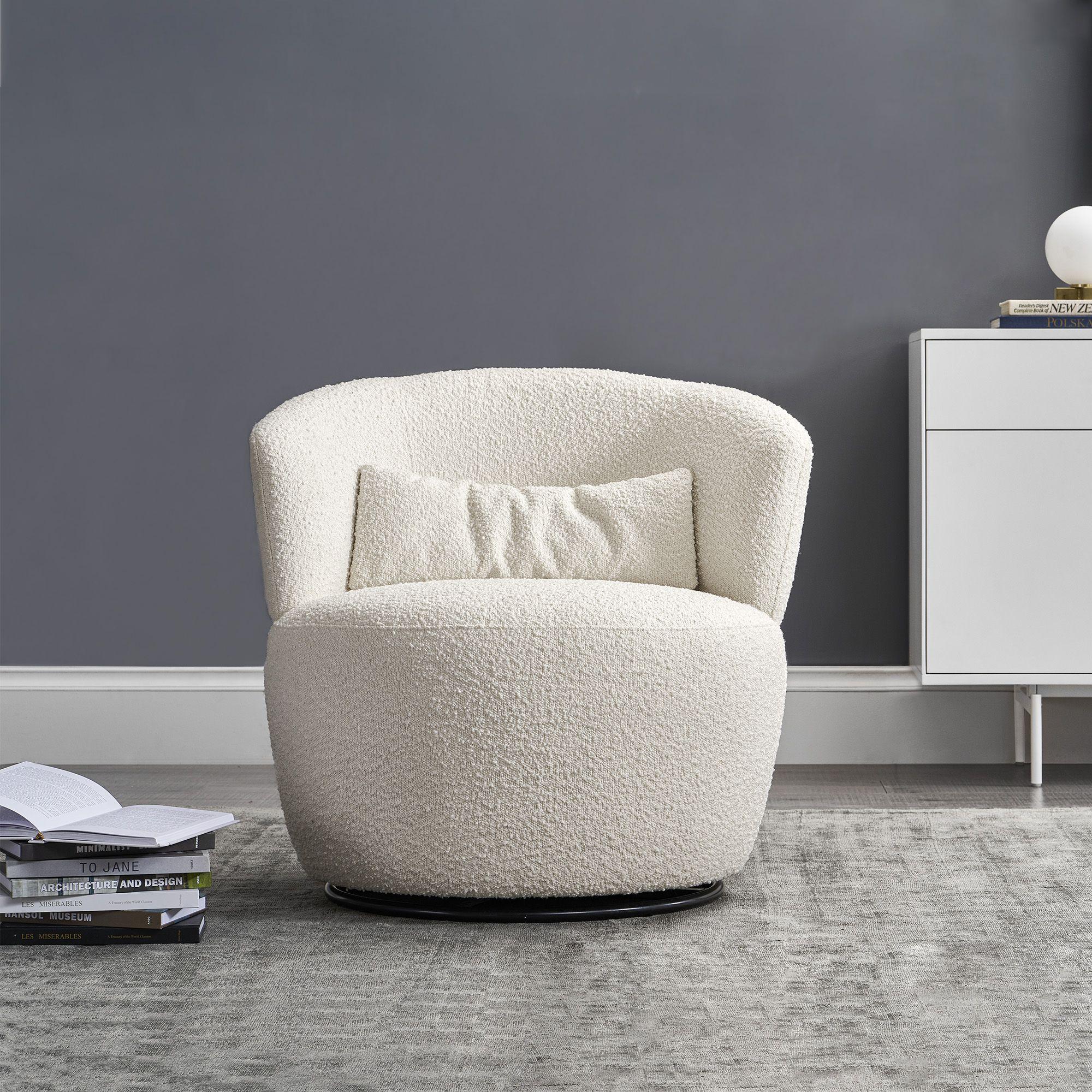Amber Swivel Chair, Snow Bouclé Castlery in 2020