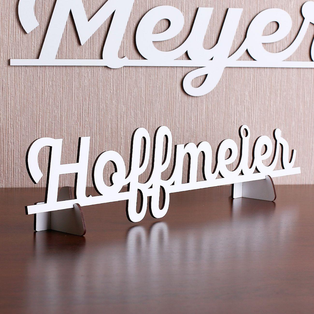 3D Schriftzug in weiß aus MDF zum Aufstellen oder Hinhängen | geschenke-online.de