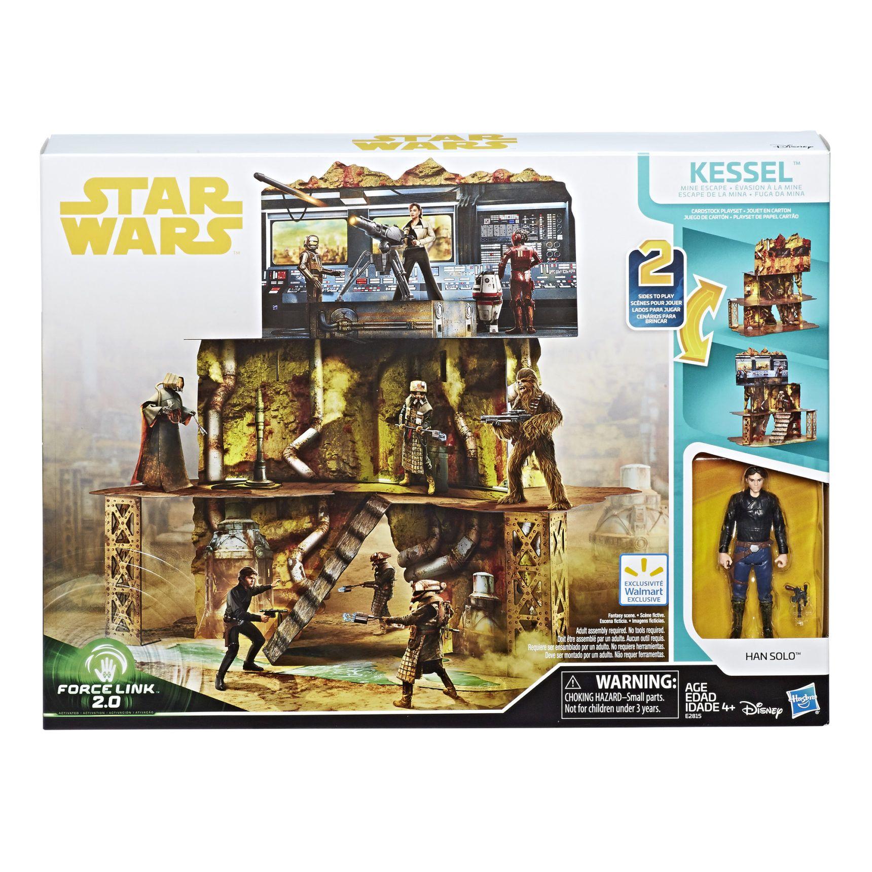 Offizielle Produktbilder Zum Hasbro Force Link 2 0 Kessel Mine Escape Cardboard Set Star Wars Geschenke Star Wars San Diego Comic Con