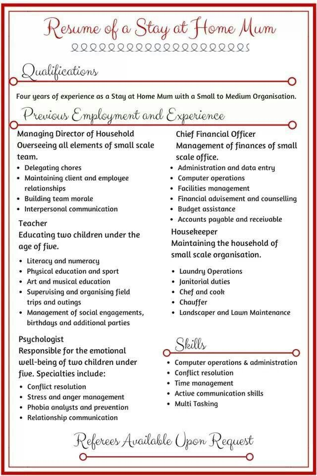 Pin By E Kay On Just For Laughs Stay At Home Work From Home Moms Resume Skills