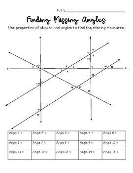 Finding Missing Angle Measures Challenge | Teachers Pay