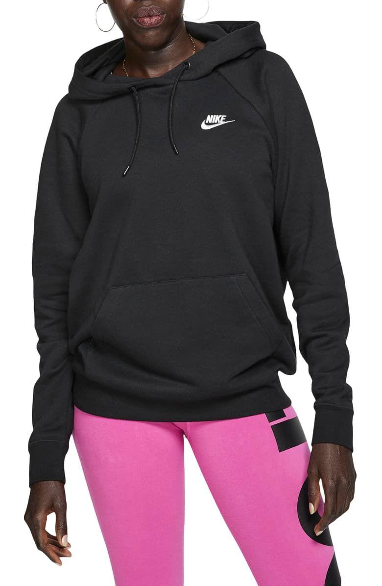 Nike Sportswear Essential Pullover Fleece Hoodie Nordstrom In 2021 Fleece Hoodie Fleece Pullover Womens Hoodies [ 1196 x 780 Pixel ]