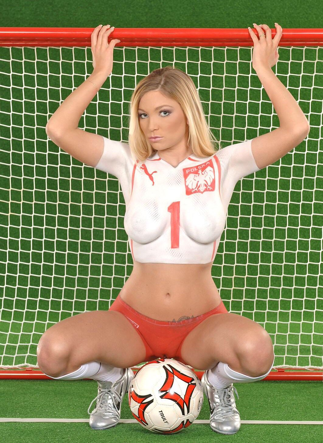Hot painted fifa girls in body