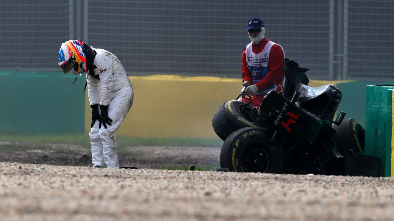 Alonso walks away from huge accident