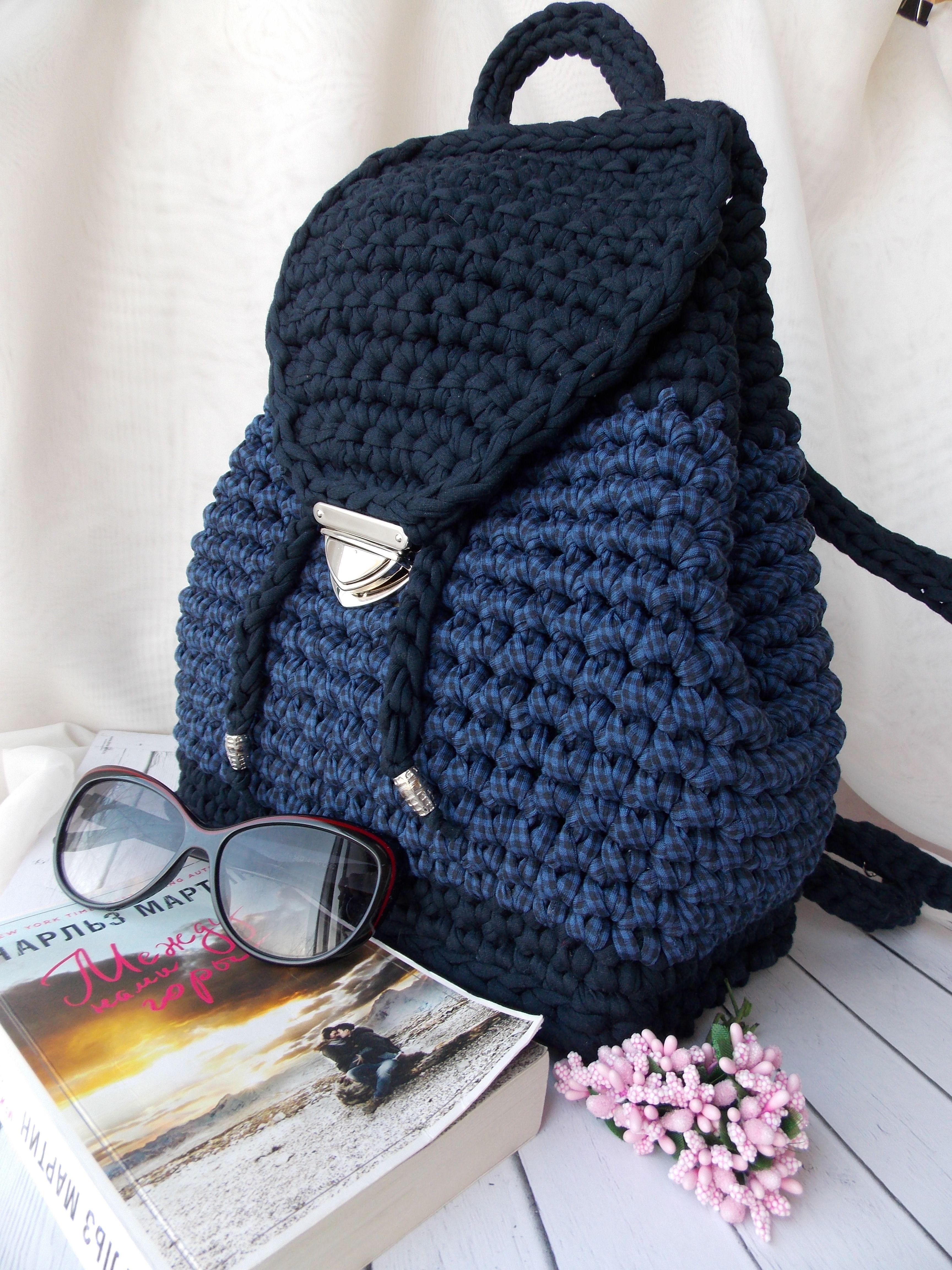 457de50fa69b Вязаный рюкзак из трикотажной пряжи, модный аксессуар этим летом ...