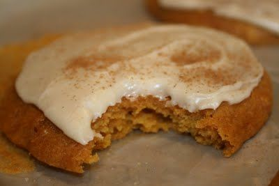 soft pumpkin cookies with browned butter icing
