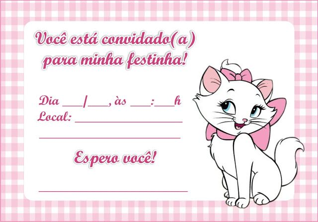 Mini Kit Personalizado Gatinha Marie para imprimir | Gata ...