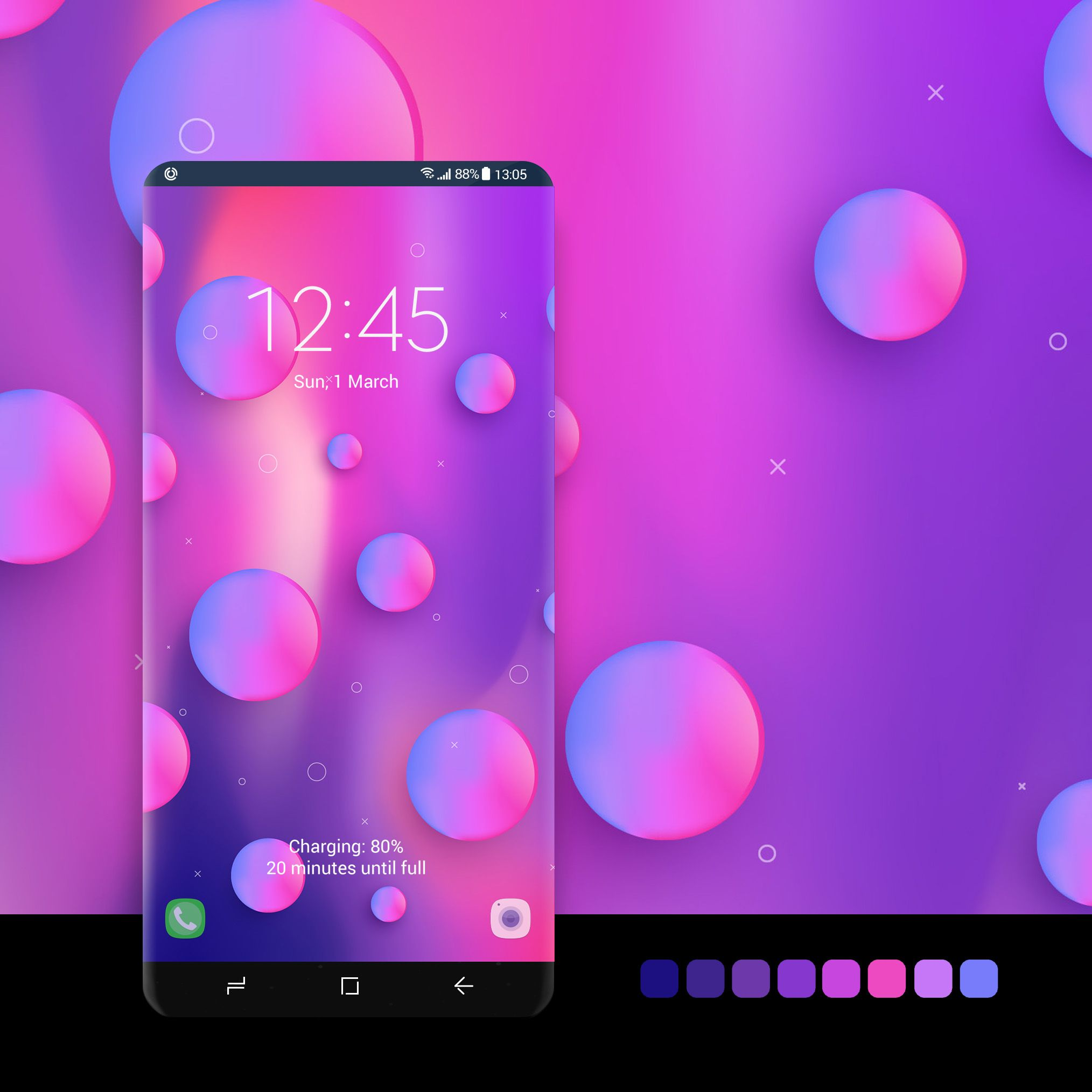 Pink And Purple Bubbles Samsung Galaxy Wallpaper Galaxy Galaxy Theme