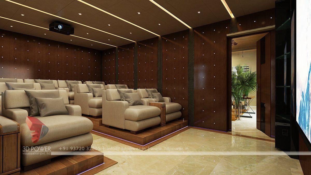 Bon Modern Home Theater Interior Design