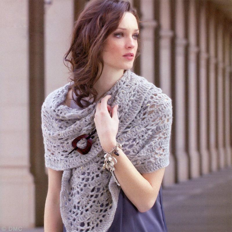 DIY Crochet   Echarpe ajourée - Idées conseils et tuto Crochet et ... 6b1792581cc