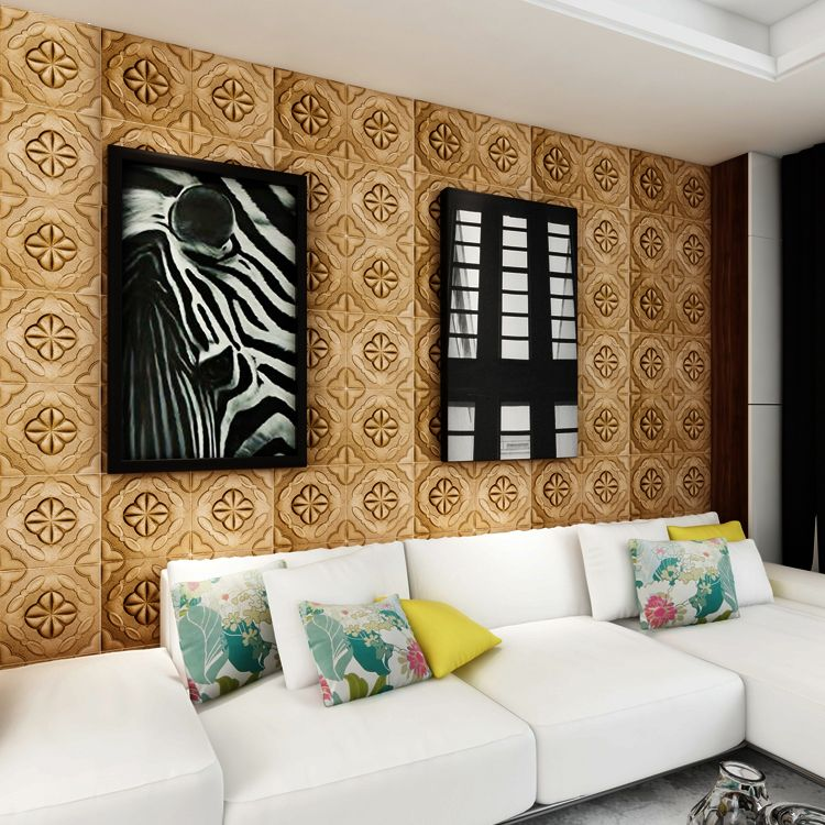 3d leather wall panel style wall sticker - china pe foam 3d wall