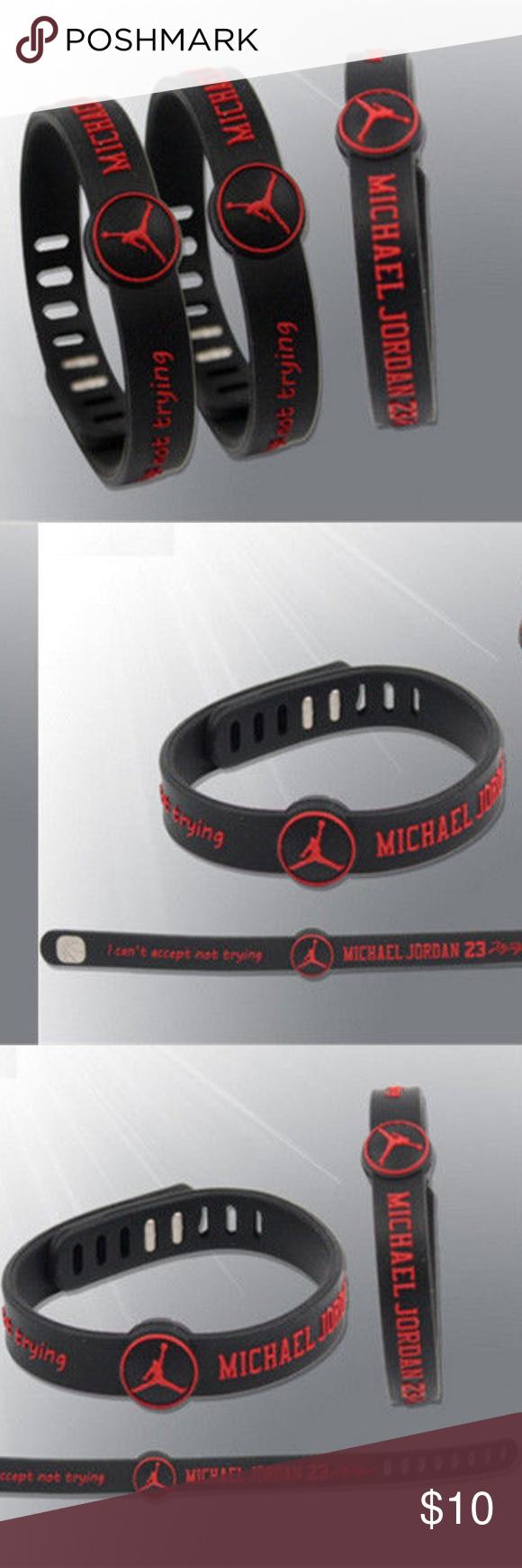 the best attitude f6227 f4e04 Michael Jordan Silicone Wristband Bracelet Michael Jordan Silicone Wristband  Says