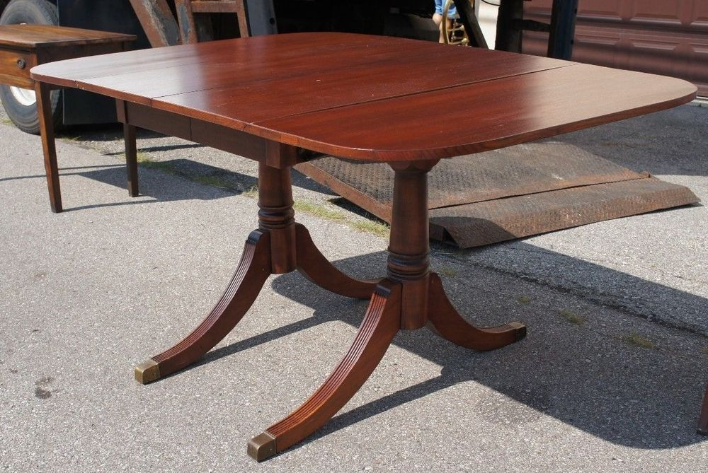 de556816df3f Vintage Duncan Phyfe Sheraton Style Mahogany Drop Leaf Dining Table Accent  Side  Sheraton