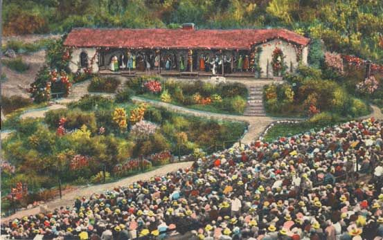 An Old Postcard Of The Ramonaplay The Ramoma Bowl In Hemet Ca