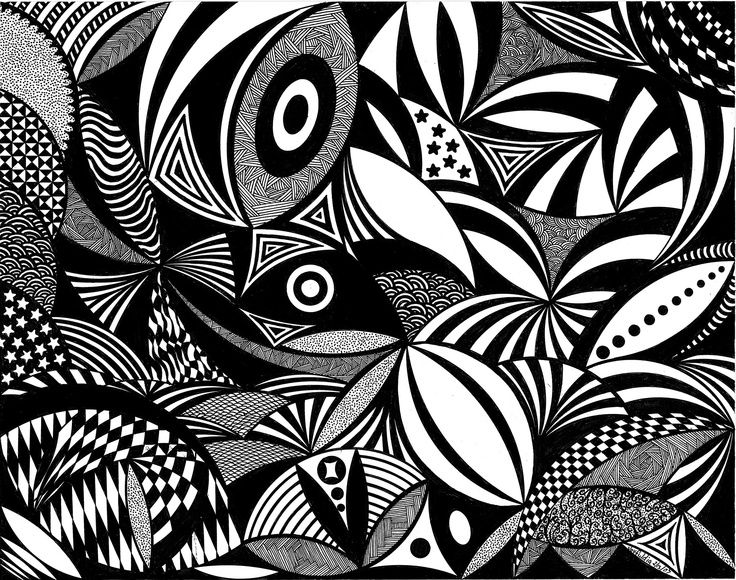 Big Abstract Coloring Pages : Abstract doodle art coloring pages doodle art an abstract