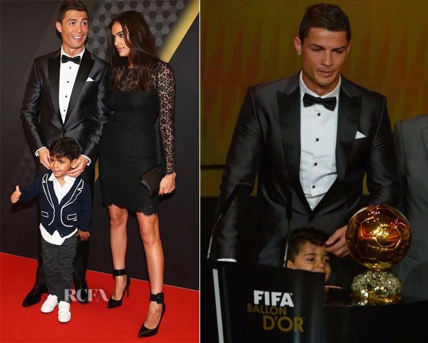 Cristiano Ronaldo In Dsquared Fifa Ballon D Or Red Carpet Fashion Awards