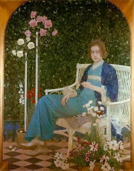 Adele Dresden oskar zwintscher german leipzig 1870 dresden 1916 jugendstil