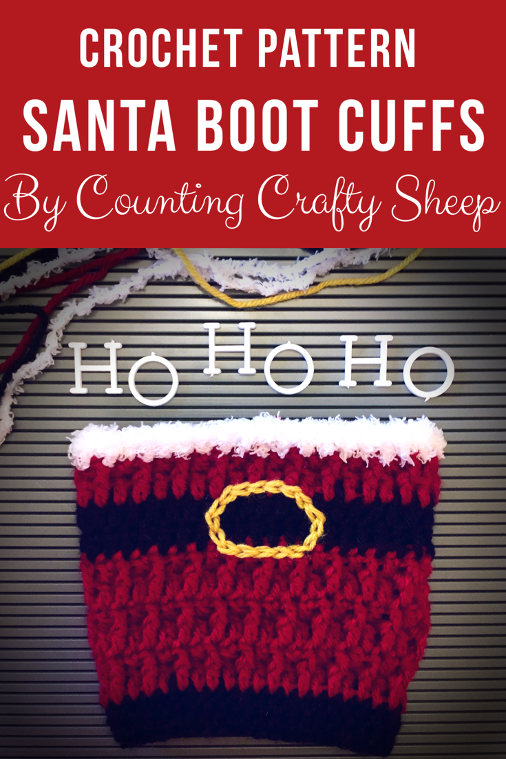 Crochet santa boot cuff pattern includes photo tutorials for front crochet santa boot cuff pattern includes photo tutorials for front post double crochet and surface crochet bankloansurffo Images
