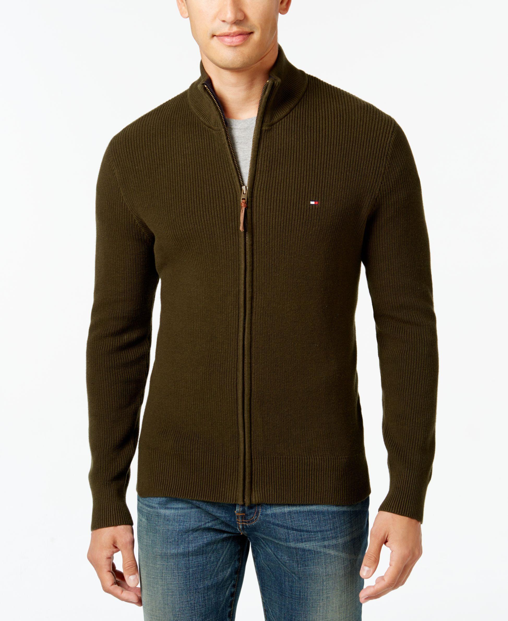 953124d88e0b Tommy Hilfiger Men s Fabian Full-Zip Sweater