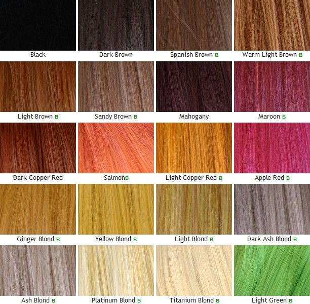 Ash Blonde Gray Chart Color Hair