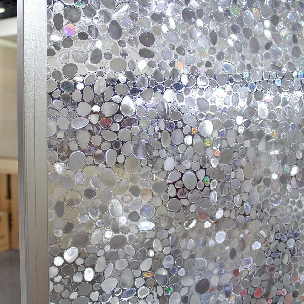 Premium 3D Reflective Decorative Etched Glass Frosted Vinyl Privacy Window Film