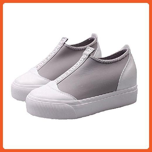 CYBLING Fashion Comfort Women Anti-Slip Low Platform Wedge Sneakers with Hidden High Heels Shoes