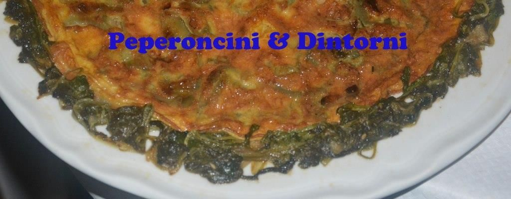 Frittata di Cipolla Toscana Su letto di Rucola passata in padella