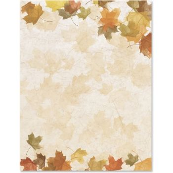 fall stationery borders