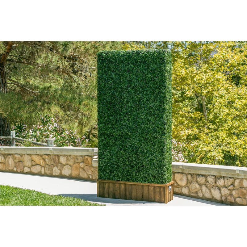 E Joy Artificial Boxwood Hedge Greenery Panels Turf Wayfair In 2020 Artificial Hedges Garden Fence Panels Artificial Boxwood