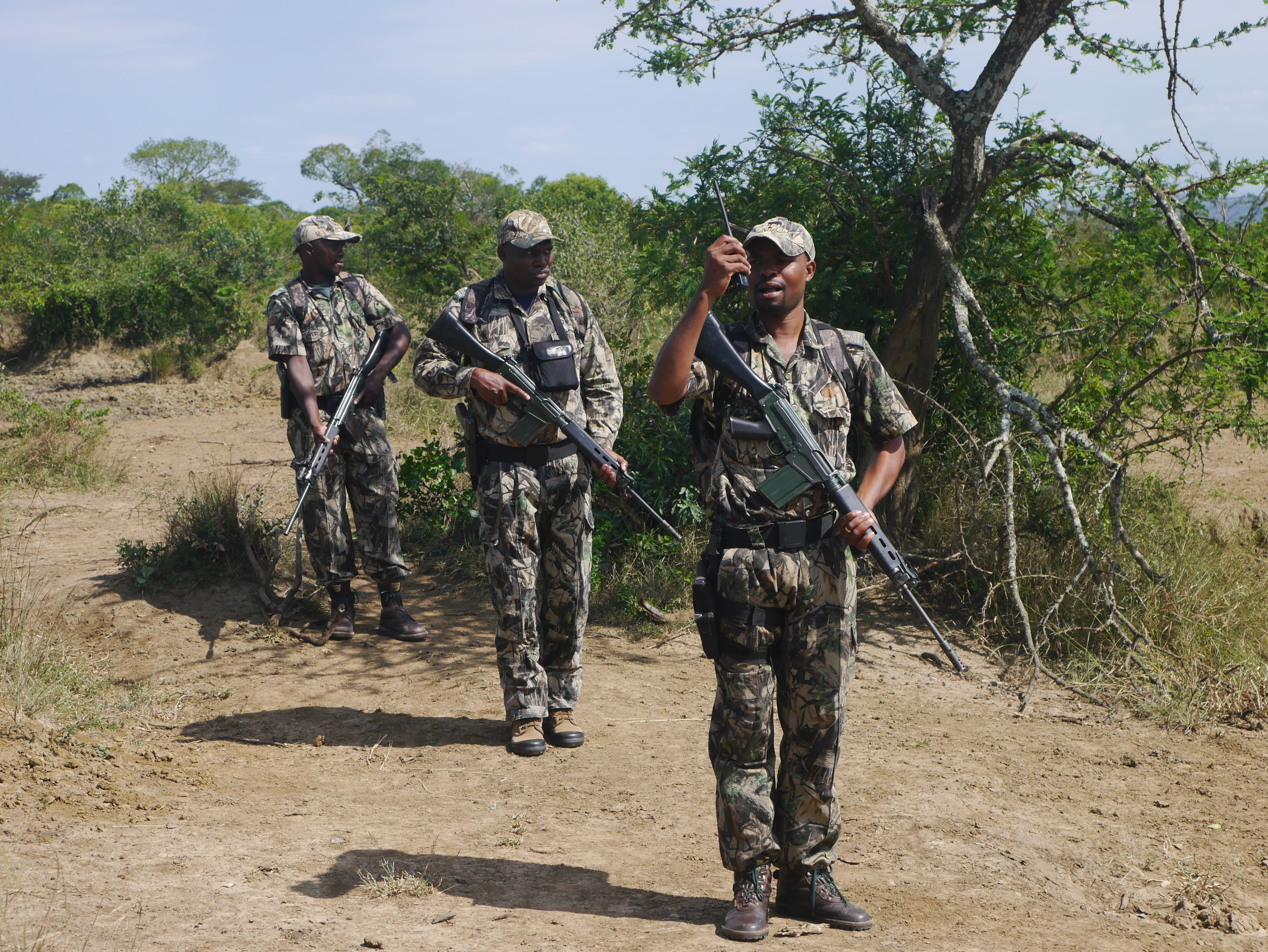 Unfortunately it is now such a dangerous job protecting rhinos, many rangers have been killed protecting rhinos