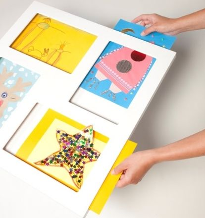 "Lovely system for the kids' drawings! They produce drawings non-stop and that way I could ""frame"" them non stop (and feel less guilty about the thousands of them I throw away :) -decovry.com - Articulate Gallery 